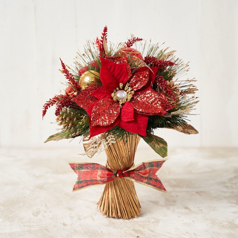 Red Poinsettia Standing Bouquet