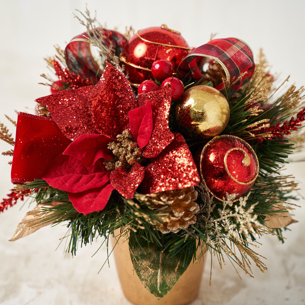 Red Poinsettia Centerpiece With Pot Holiday Tree Is A Division Of Celebreat Llc