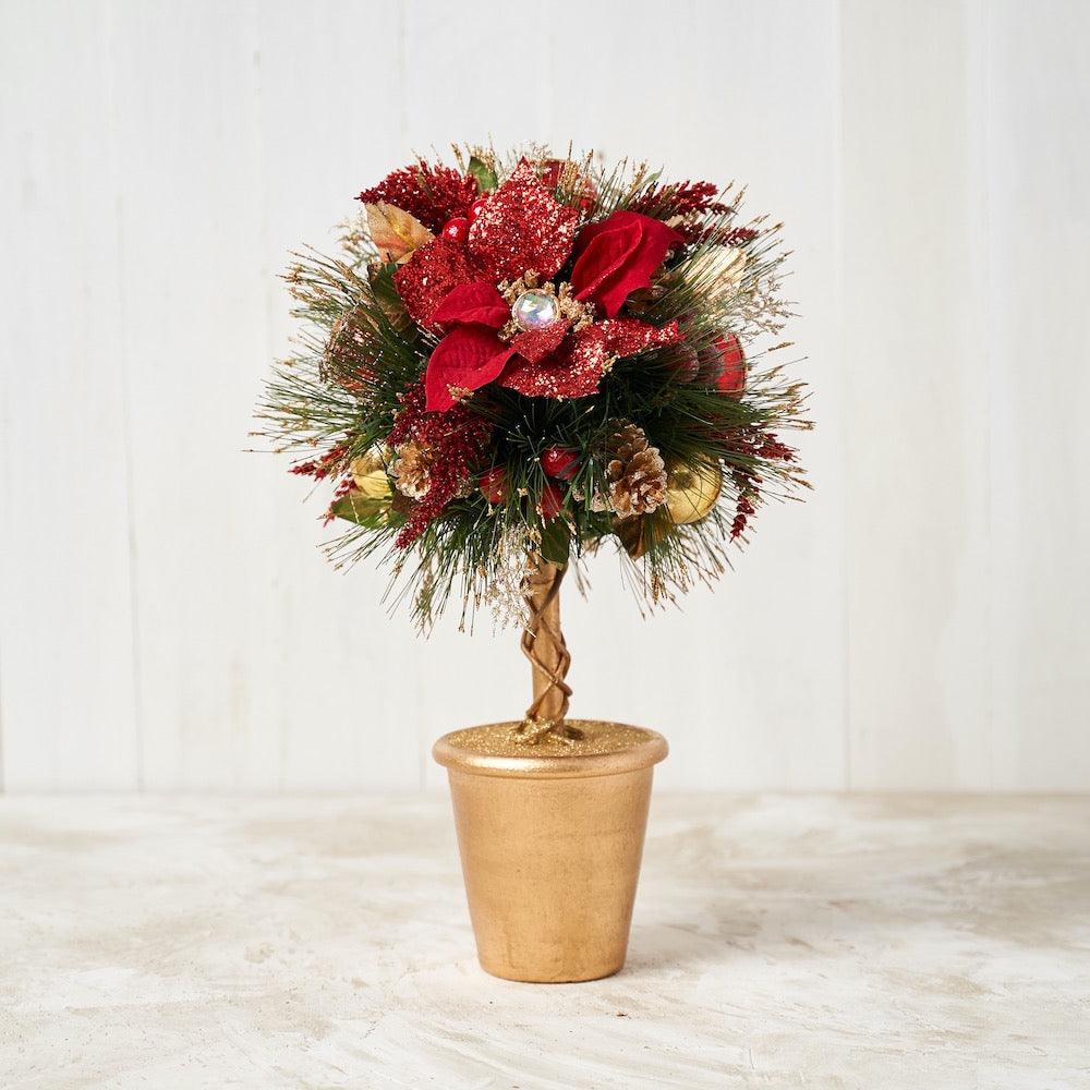 Red Poinsettia Topiary