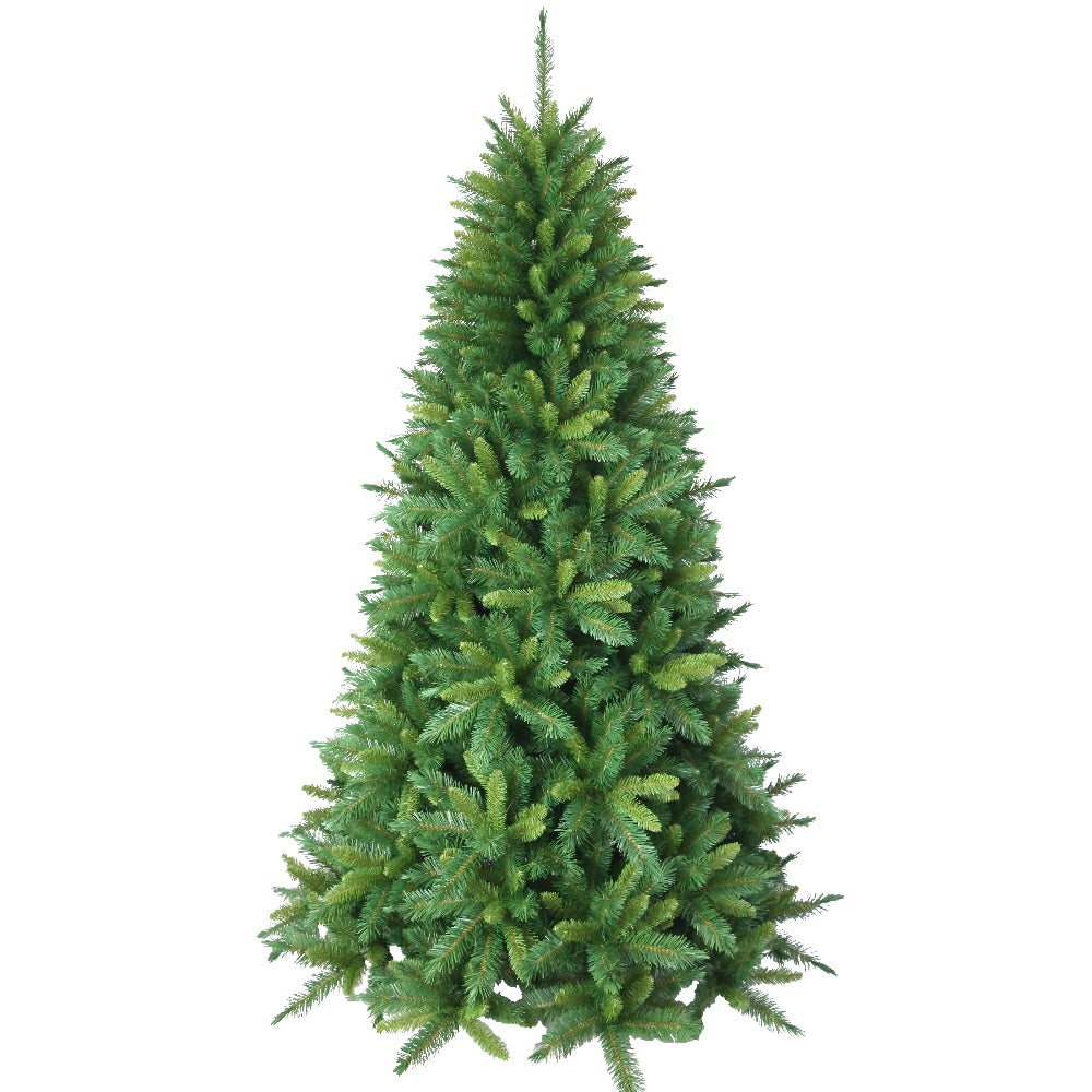 Hamilton Spruce, Unlit (7.5') Artificial Christmas Tree With Metal Stand - Soft PVC Plastic For Full Appearance - Classic - 7.5 ft - Hook On Branches