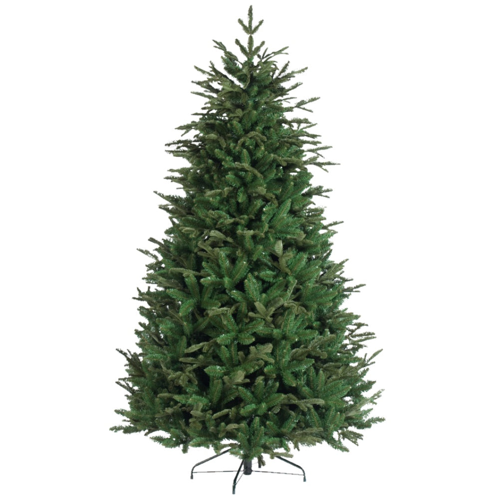 Irish Pine, Unlit (7.5') Artificial Christmas Tree With Metal Stand - PE + PVC Plastic For Narrow Appearance - Realistic - 7.5 ft - Hook On Branches