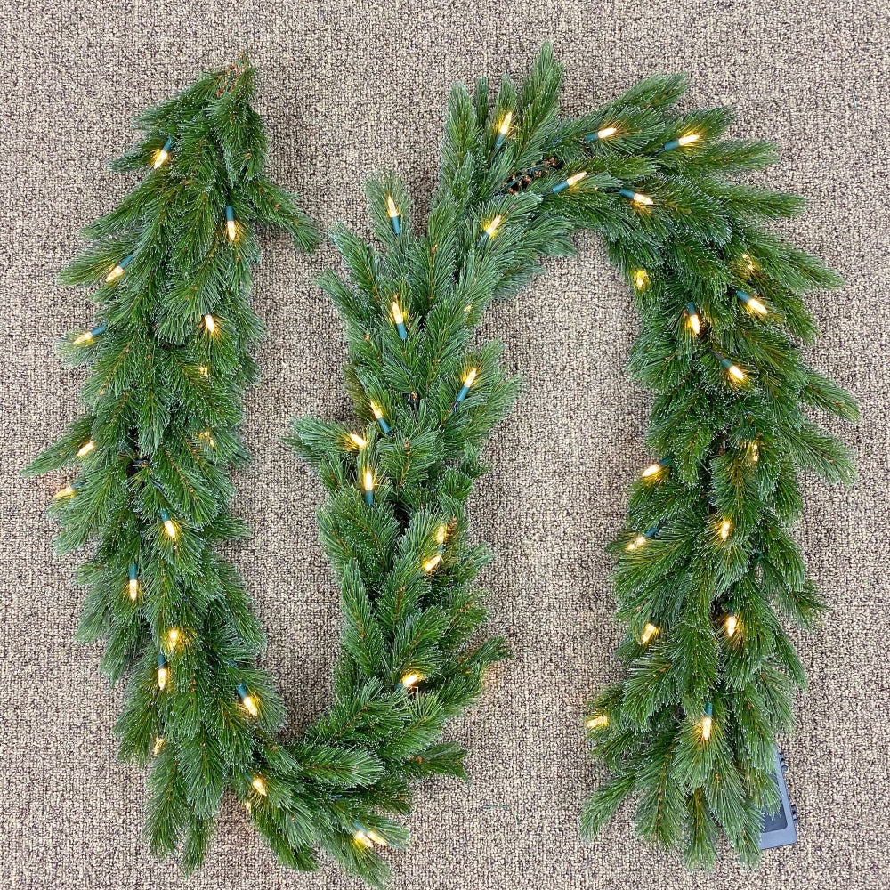 "Vermont Garland (9' x 12"") Prelit Clear LED Lights"