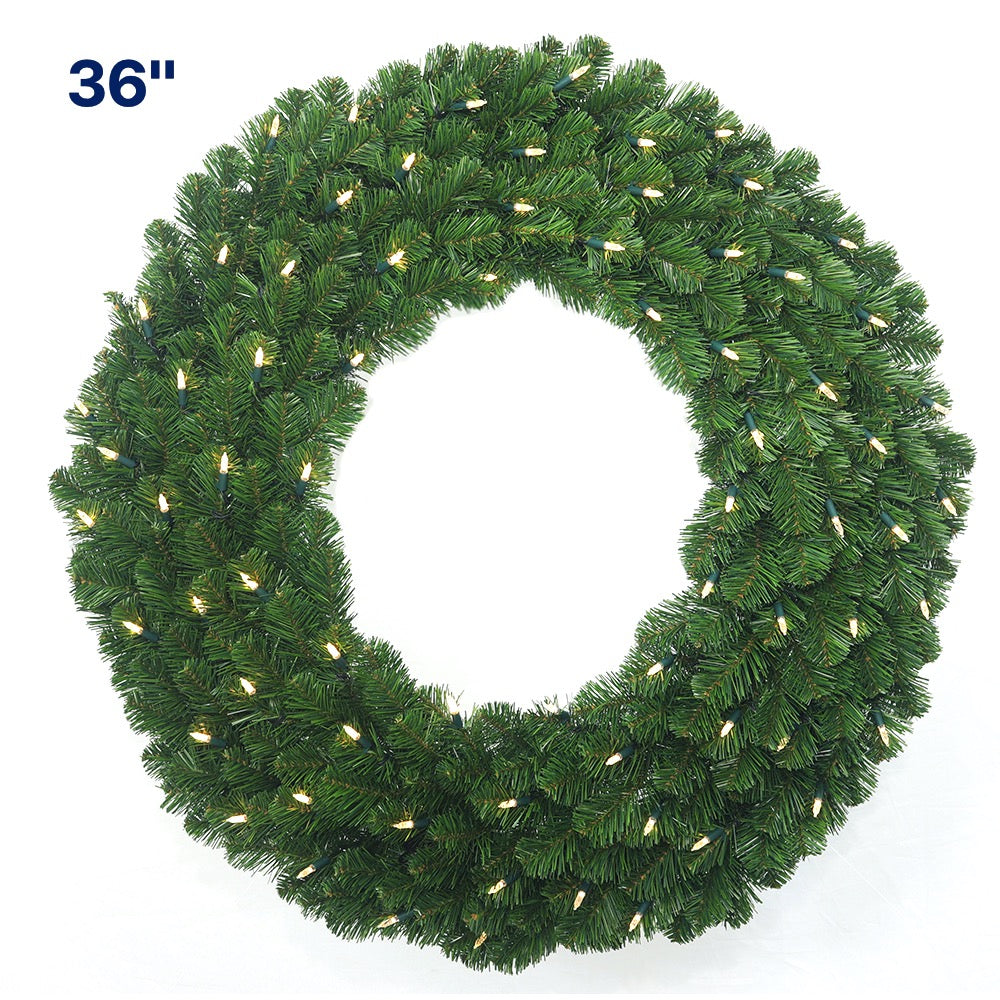 Colorado Wreath Prelit LED Clear Light