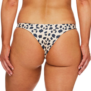 Miss Capri / Palm leopard black luxury bikini bottom