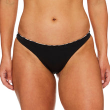 Load image into Gallery viewer, Miss Capri / Palm leopard black luxury bikini bottom