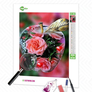 Apfelblume - DIY 5D Diamond Painting (Diamanten Malerei)