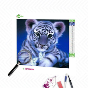 Baby Tiger - DIY 5D Diamond Painting (Diamanten Malerei)