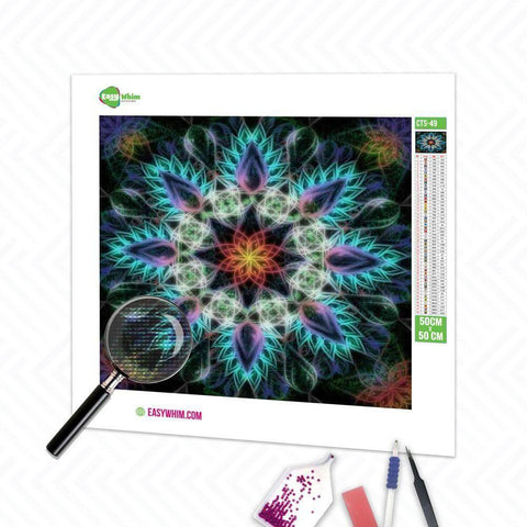 Blaues Mandala - DIY 5D Diamond Painting (Diamanten Malerei)