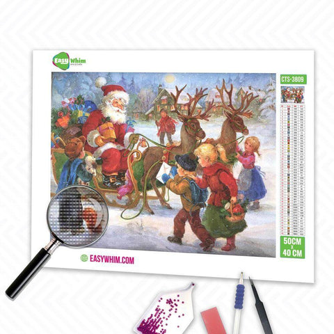 Image of Weihnachtskinder - DIY 5D Diamond Painting (Diamanten Malerei)