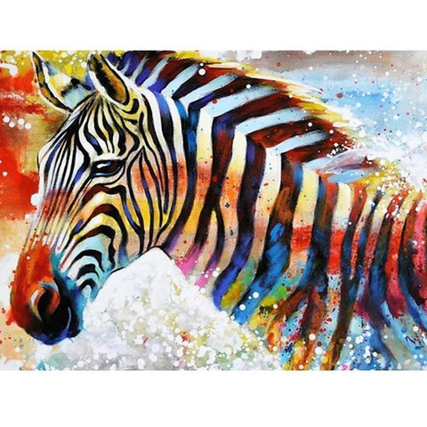 Abstract Color Zebra - DIY 5D Diamond Painting - Full Drill-EasyWhim