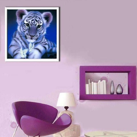 Baby Tiger - DIY 5D Diamond Painting - Full Drill-EasyWhim