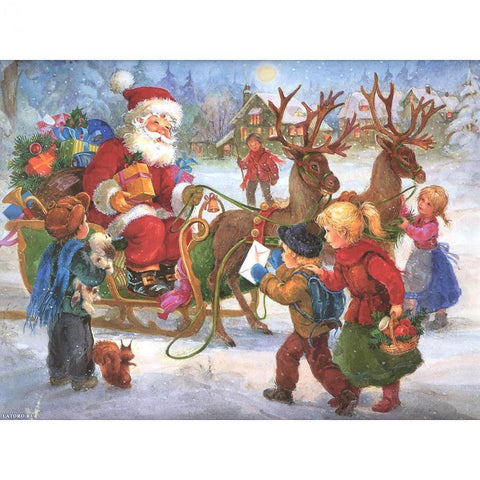 Image of Christmas Kids - DIY 5D Diamond Painting - Full Drill-EasyWhim
