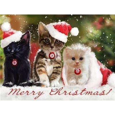 Image of Christmas Kittens - DIY 5D Diamond Painting - Full Drill-EasyWhim