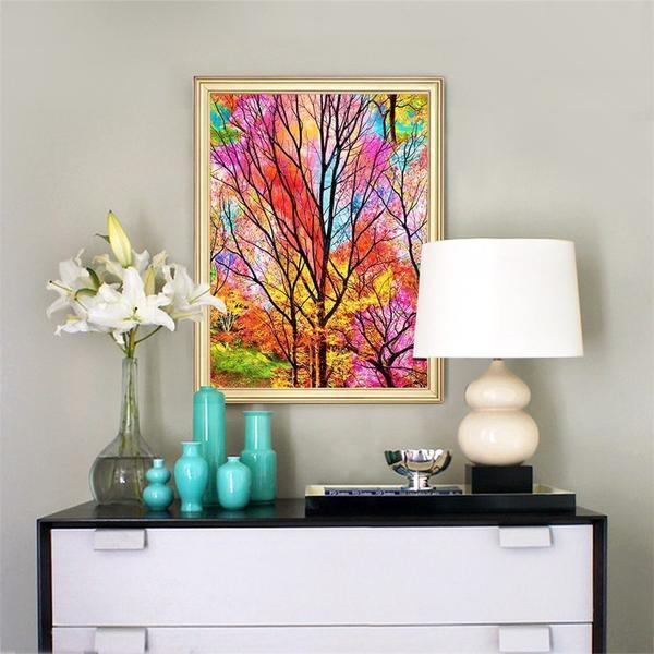 Color Woods - DIY 5D Diamond Painting - Full Drill-EasyWhim