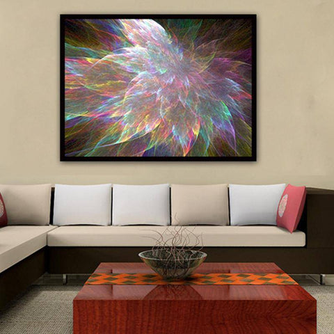 Image of Colorful Abstract Flower - DIY 5D Diamond Painting - Full Drill-EasyWhim