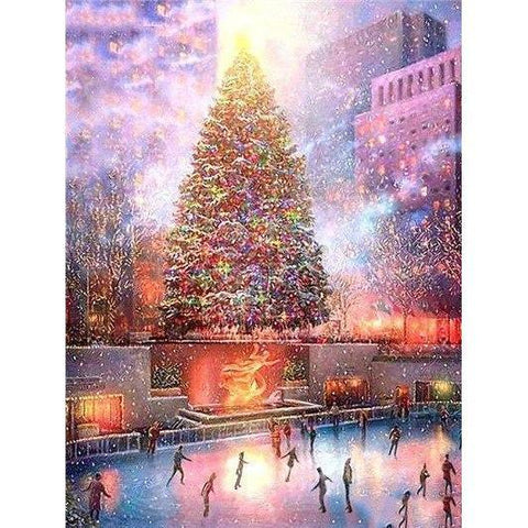 Image of Colorful Christmas Tree - DIY 5D Diamond Painting - Full Drill-EasyWhim