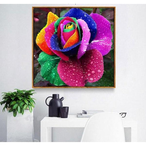 Image of Colorful Floral - DIY 5D Diamond Painting - Full Drill-EasyWhim