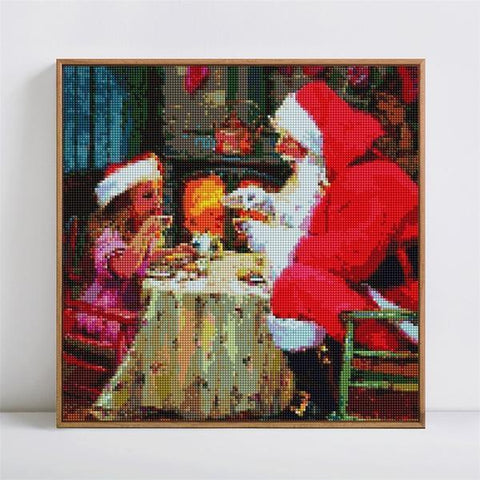 Dinner with Santa - DIY 5D Diamond Painting - Full Drill-EasyWhim
