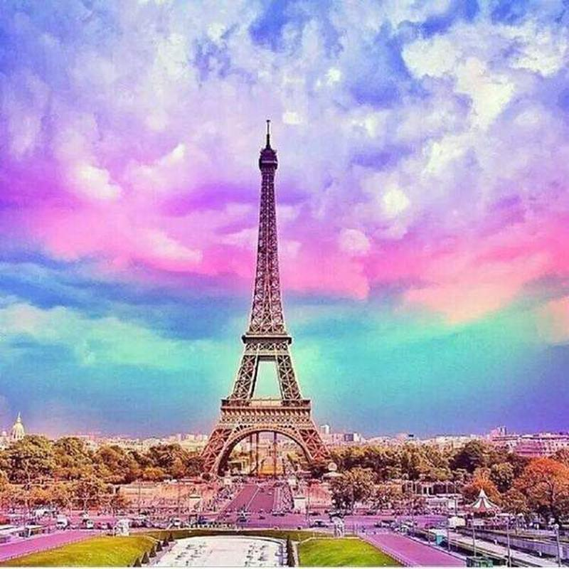 Eiffel Tower - DIY 5D Diamond Painting - Full Drill-EasyWhim
