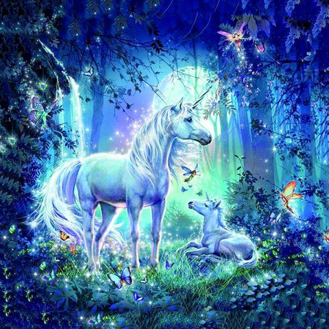 Image of Fairy and Unicorn - DIY 5D Diamond Painting - Full Drill-EasyWhim