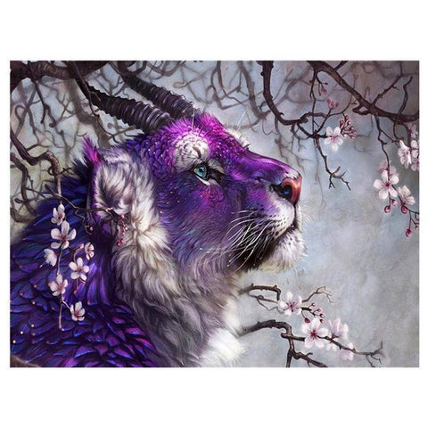 Image of Fantasy Tiger - DIY 5D Diamond Painting - Full Drill-EasyWhim