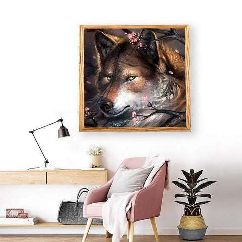 Image of Fantasy Wolf - DIY 5D Diamond Painting - Full Drill-EasyWhim