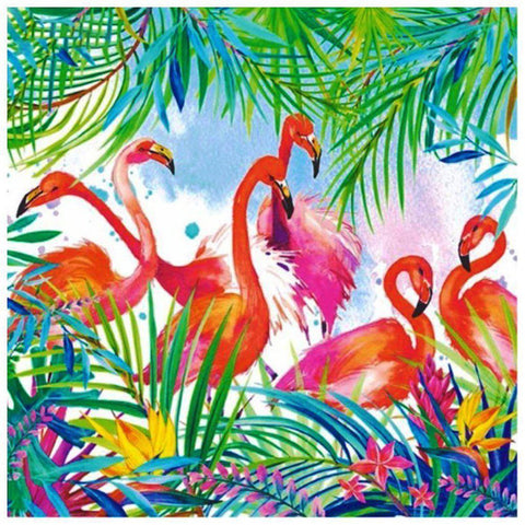 Image of Flamingo Meeting - DIY 5D Diamond Painting - Full Drill-EasyWhim