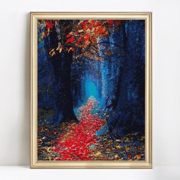 Forest's Path- DIY 5D Diamond Painting - Full Drill-EasyWhim