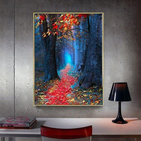 Image of Forest's Path- DIY 5D Diamond Painting - Full Drill-EasyWhim