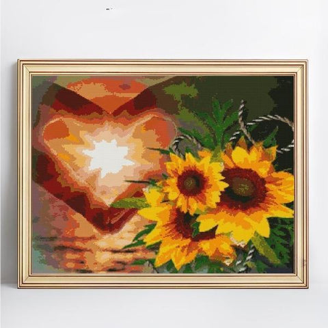 Image of Heart Flower Hope - DIY 5D Diamond Painting - Full Drill-EasyWhim