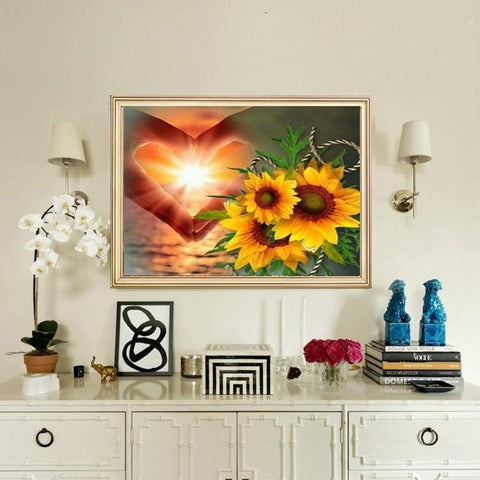 Heart Flower Hope - DIY 5D Diamond Painting - Full Drill-EasyWhim
