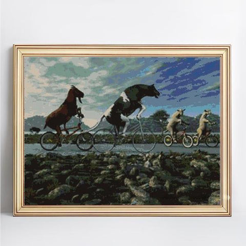 Image of Horse Race - DIY 5D Diamond Painting - Full Drill-EasyWhim