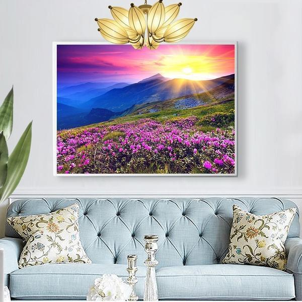 Lavender Sunset - DIY 5D Diamond Painting - Full Drill-EasyWhim