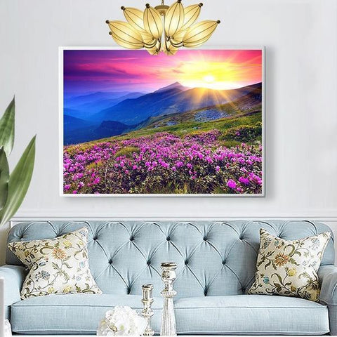 Image of Lavender Sunset - DIY 5D Diamond Painting - Full Drill-EasyWhim