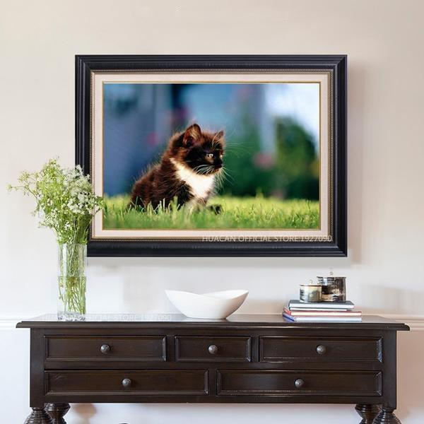 Lone Kitty - DIY 5D Diamond Painting - Full Drill-EasyWhim