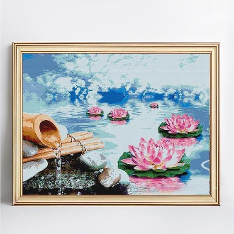 Image of Lovely Lilies - DIY 5D Diamond Painting - Full Drill-EasyWhim