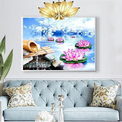 Lovely Lilies - DIY 5D Diamond Painting - Full Drill-EasyWhim