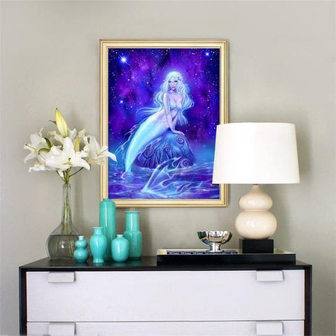 Image of Majestic Mermaid - DIY 5D Diamond Painting - Full Drill-EasyWhim