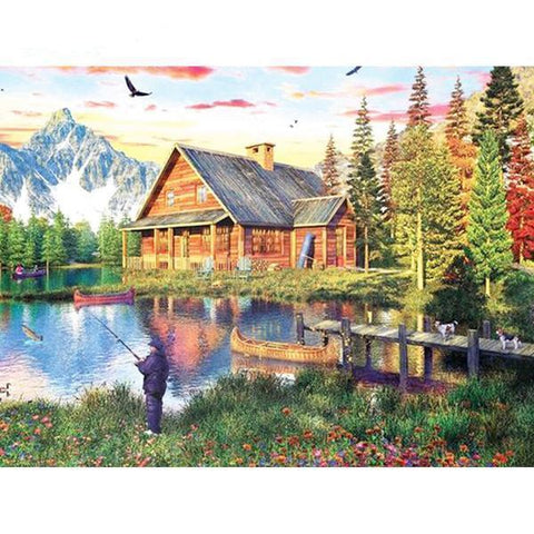 Mountain Abode - DIY 5D Diamond Painting - Full Drill-EasyWhim