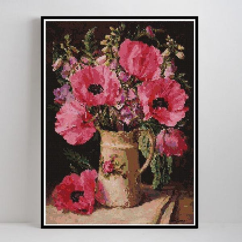 Image of Pink Beauty - DIY 5D Diamond Painting - Full Drill-EasyWhim