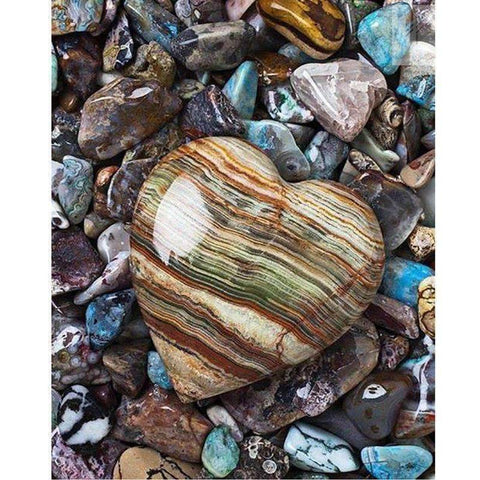 Image of Rock Heart - DIY 5D Diamond Painting - Full Drill-EasyWhim