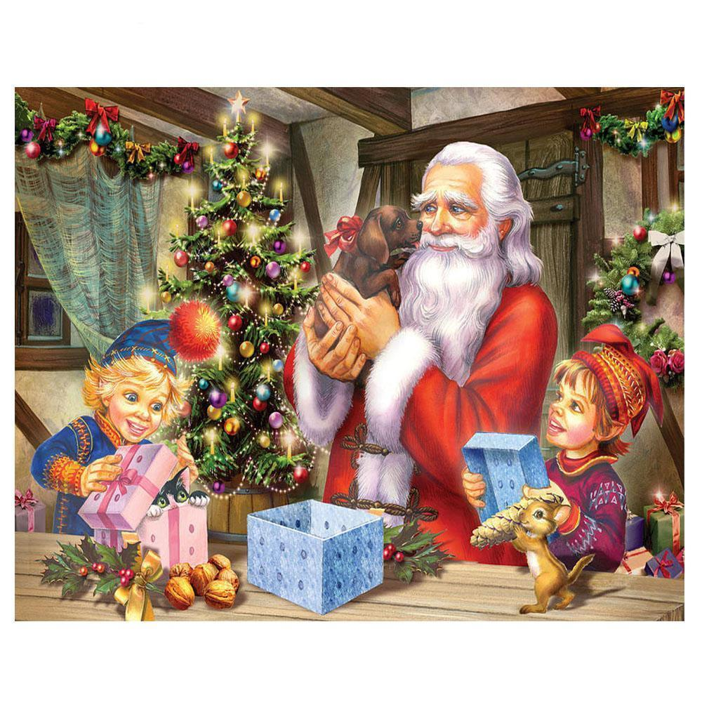 Santa's Gift - DIY 5D Diamond Painting - Full Drill-EasyWhim