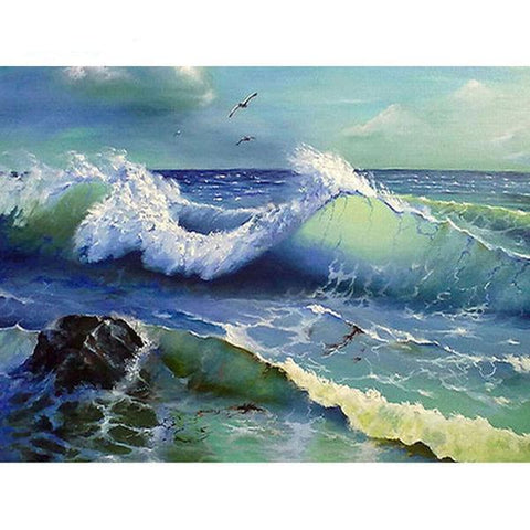 Image of Scene Waves - DIY 5D Diamond Painting - Full Drill-EasyWhim