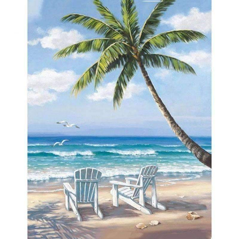 Sea View - DIY 5D Diamond Painting - Full Drill-EasyWhim