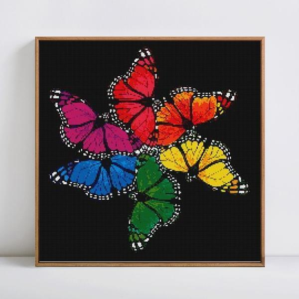 Spiral Rainbow Butterflies - DIY 5D Diamond Painting - Full Drill-EasyWhim