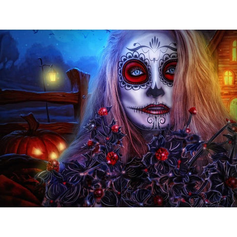 Image of Spooky Girl - DIY 5D Diamond Painting - Full Drill-EasyWhim