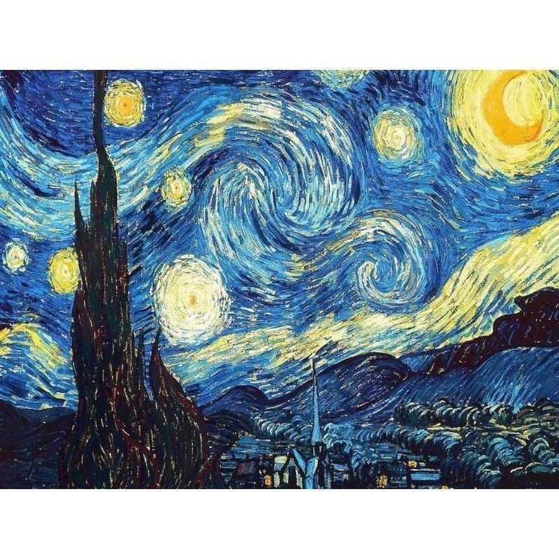 Starry Night - DIY 5D Diamond Painting - Full Drill-EasyWhim