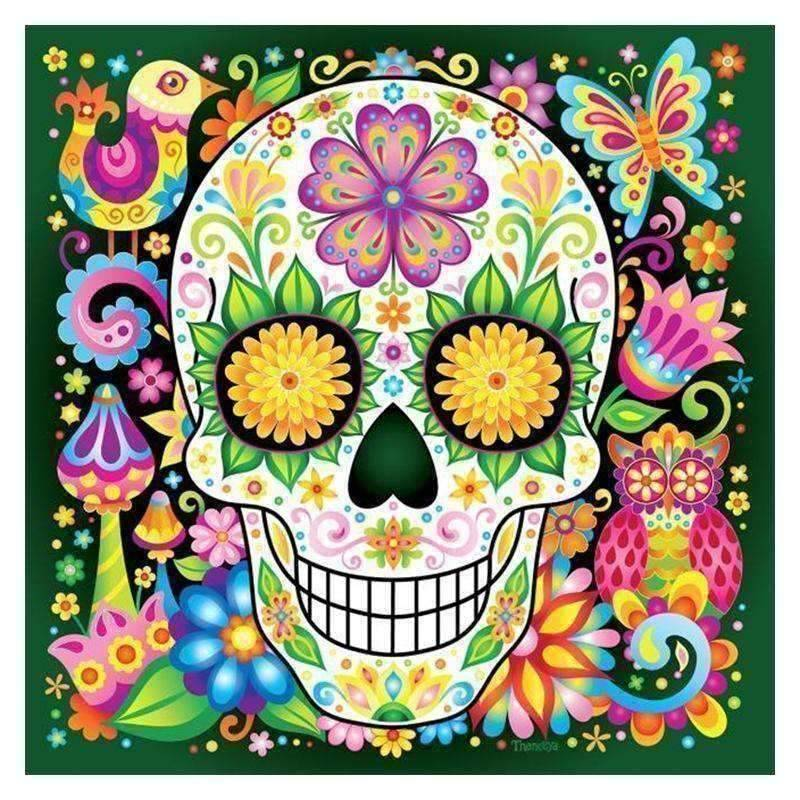 Sugar Skull - DIY 5D Diamond Painting - Full Drill-EasyWhim