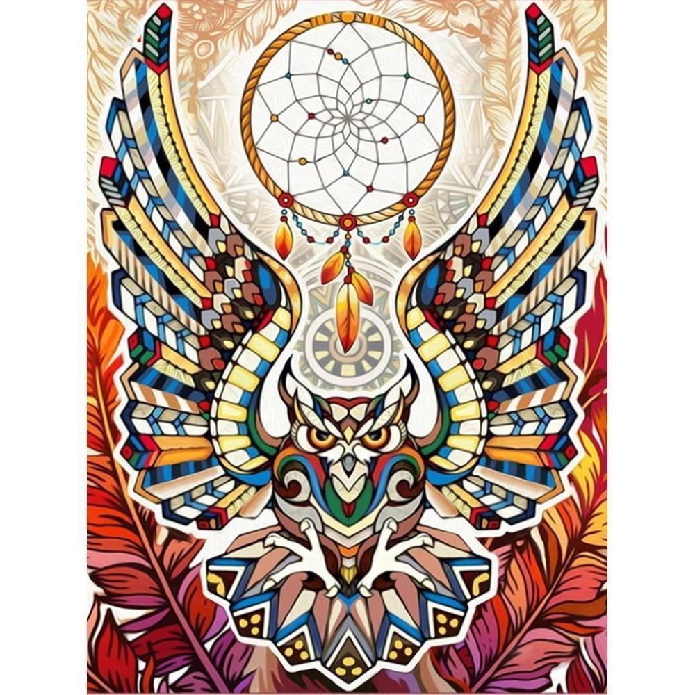 Symbolic Owl - DIY 5D Diamond Painting - Full Drill-EasyWhim