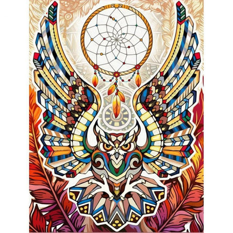 Image of Symbolic Owl - DIY 5D Diamond Painting - Full Drill-EasyWhim